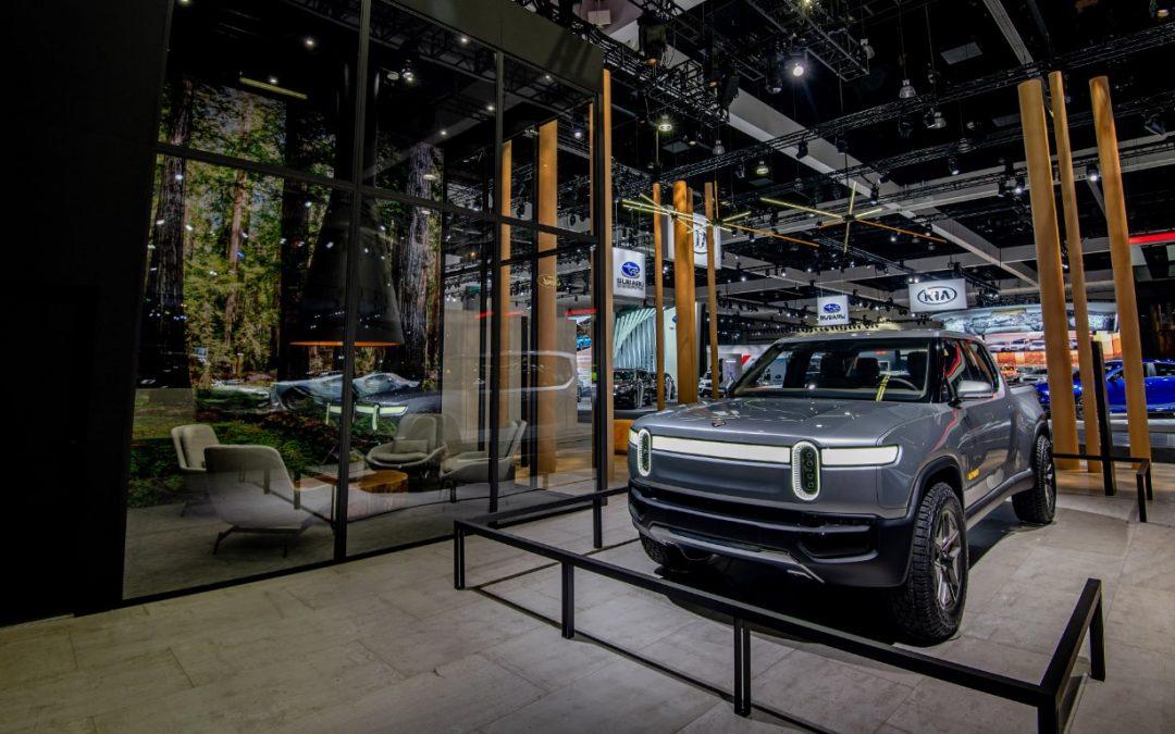 Rivian Auto Show Exhibit